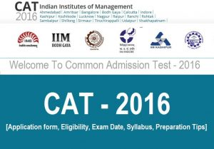 CAT 2016 Notification - New Pattern, Exam Date @ iimcat.ac.in