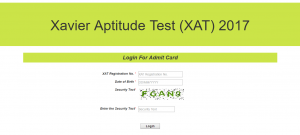 XAT 2017 Admit Card download