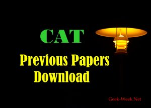 CAT Previous Paper Download